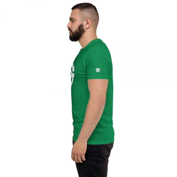 45 adapter Fitted T-shirt