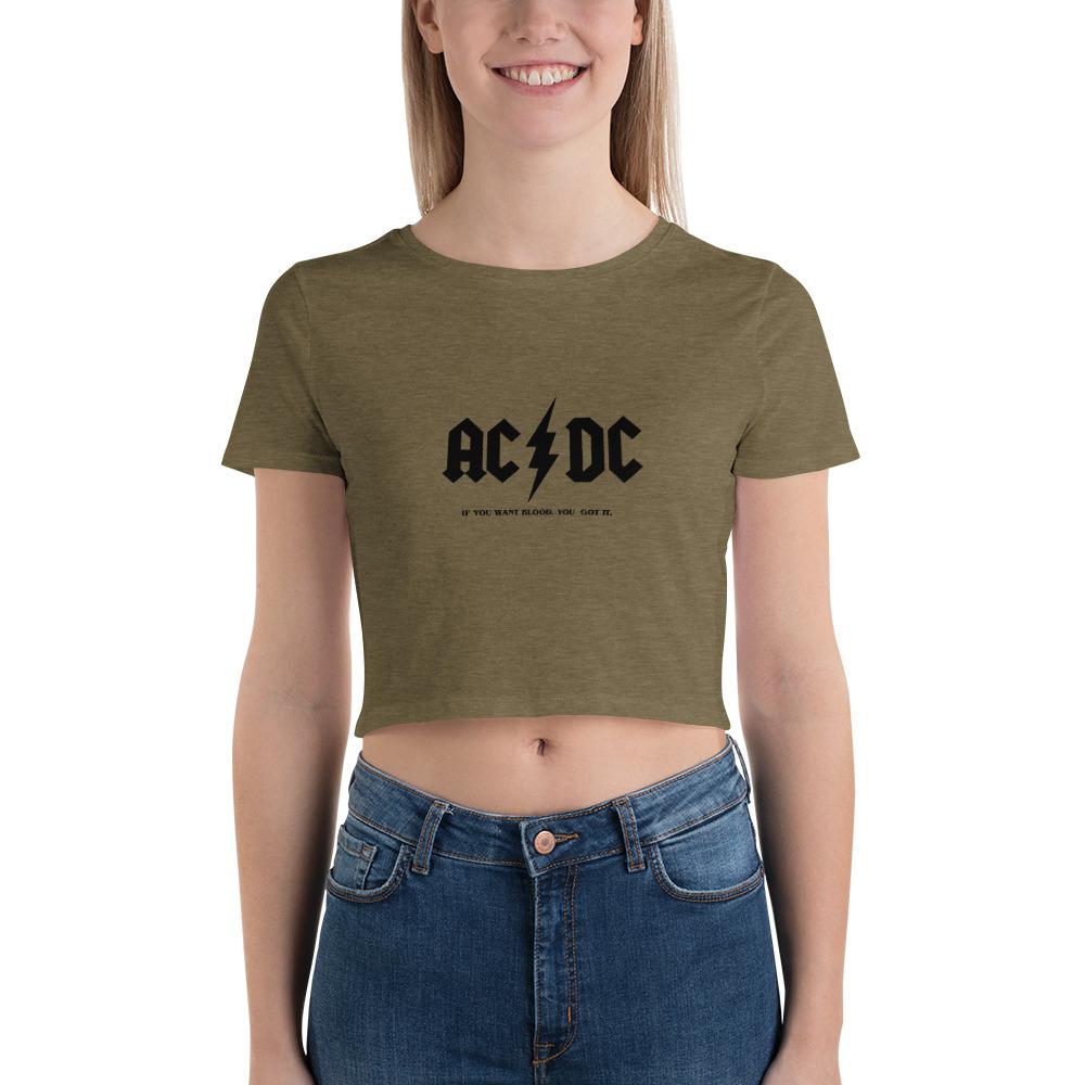 AC / DC Women's Crop Tee
