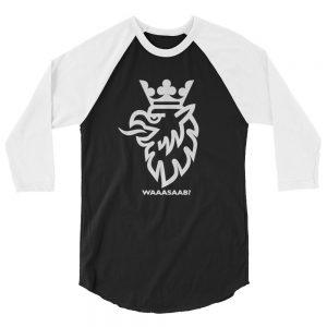 WaaaSaab? 3/4 sleeve raglan shirt